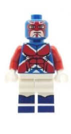 Captain Britain (British equivalent of Captain America) - Custom Designed Minifigure